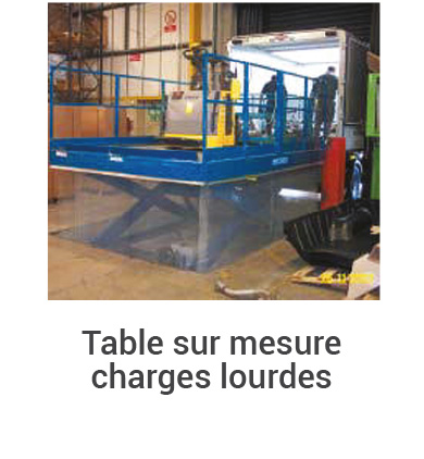 table elevatrice 07 sur mesure charges lourdes